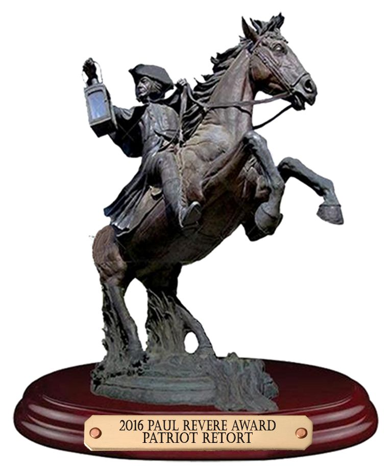 Patriot Retort Paul Revere Award Winner