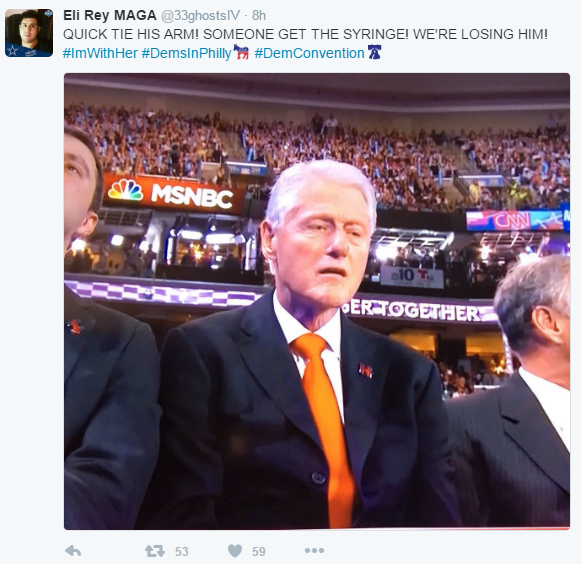 Bill Clinton Excitement