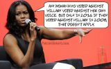 Michelle Obama insults women voters