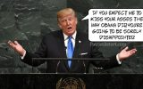 Just a couple things on Trump's UN Speech