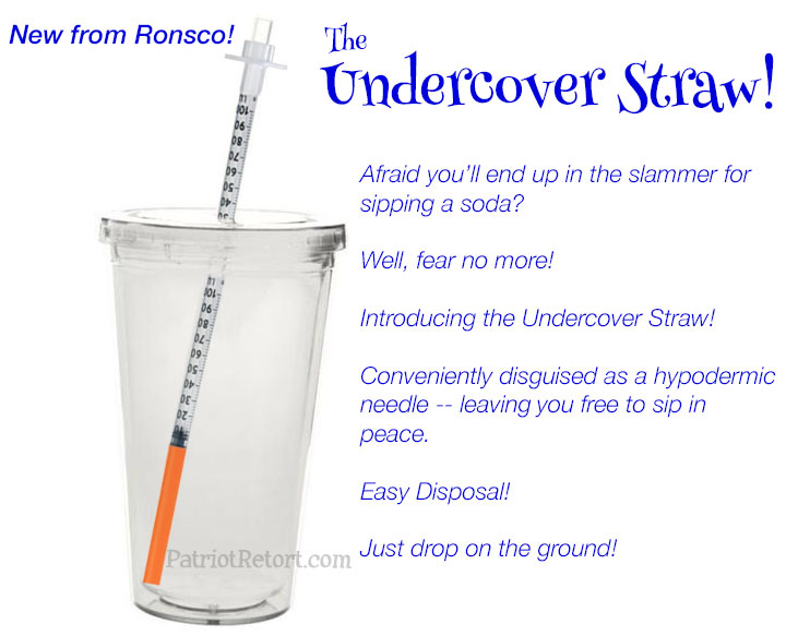 Undercover straw