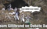 Run-Away Gillibrand cancels debate