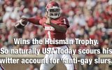 First they came for an Oscar host, then they came for the Heisman winner