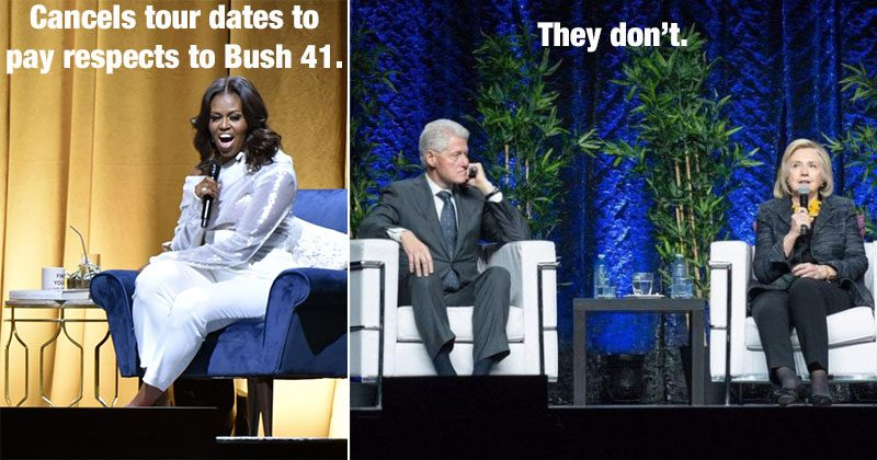 Michelle vs Clintons