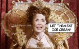 "Prayerful Pelosi says ""Let them eat ice cream"""