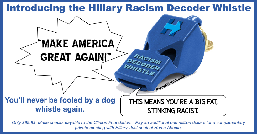 Racism decoder whistle
