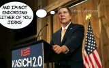 Kasich 2.0 stays true to form